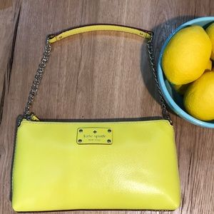 Kate Spade Yellow Wellesley Byrd Shoulder Bag